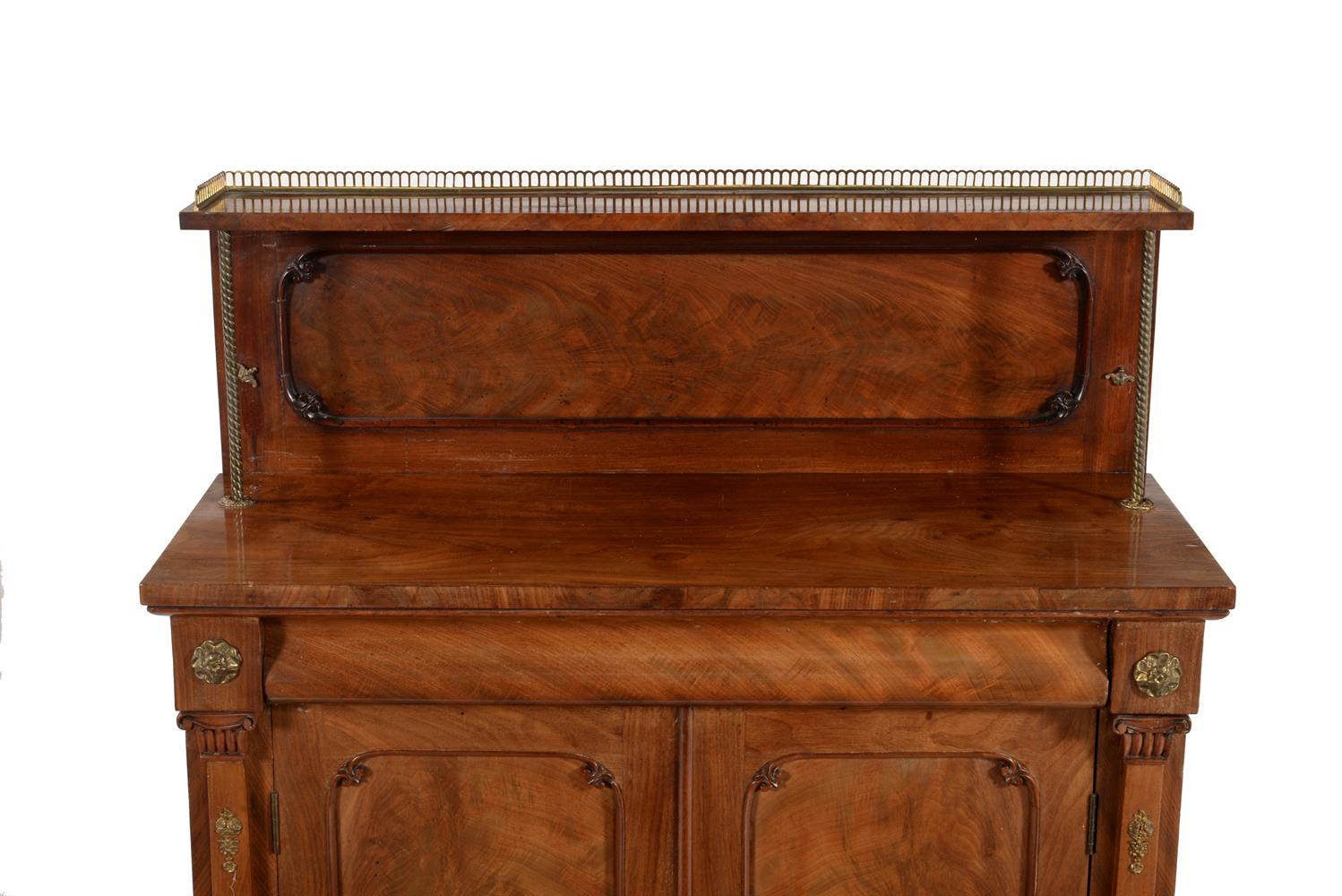 A Regency mahogany and gilt metal mounted chiffonier - Image 2 of 2