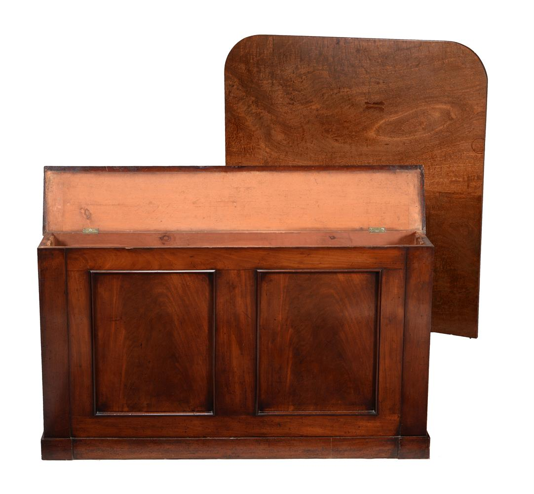 A mahogany twin pedestal D-end dining table - Image 4 of 5