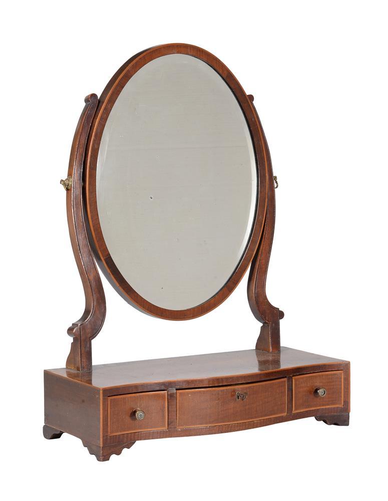A group of three similar George III mahogany platform dressing mirrors - Image 2 of 4