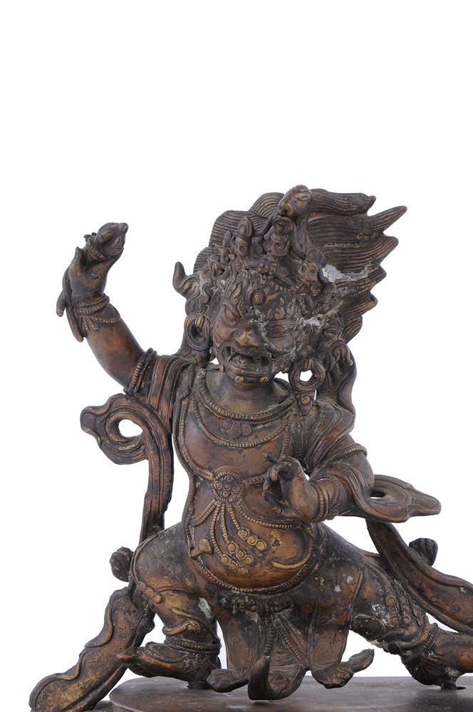 A Tibetan bronze figure of Vajrapani - Image 2 of 6