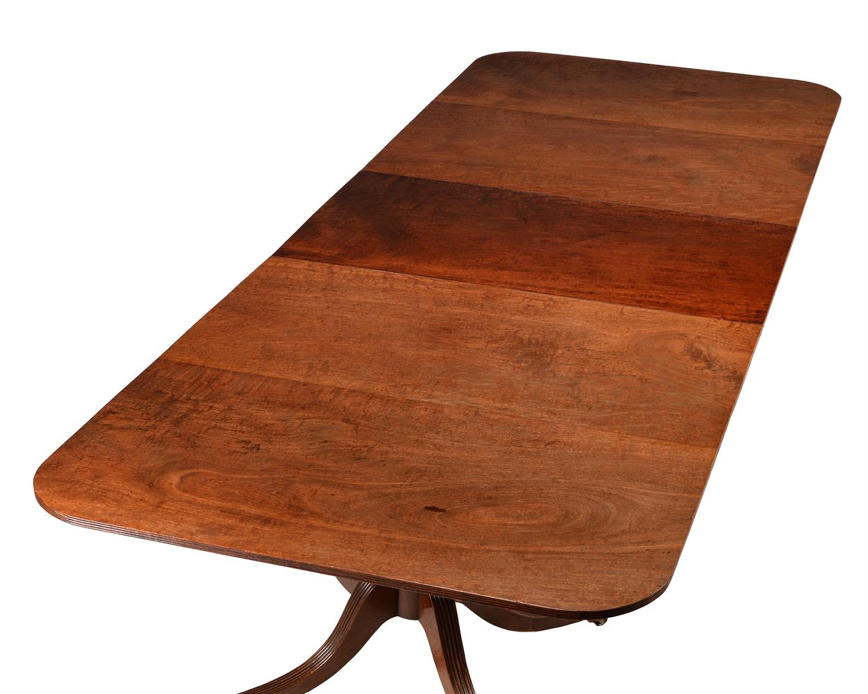 A mahogany twin pedestal D-end dining table - Image 2 of 5