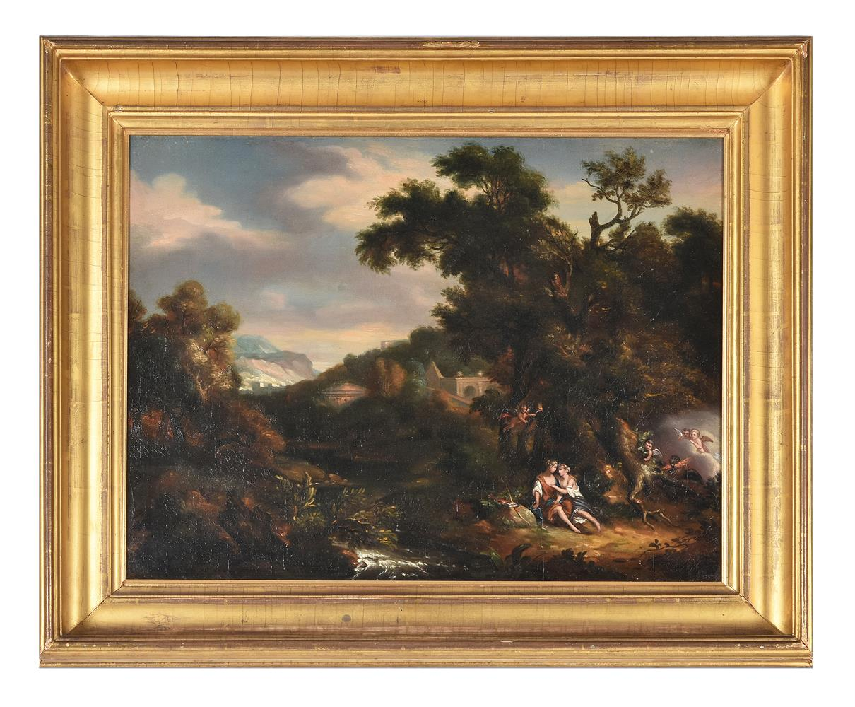 Manner of Claude Lorrain, Figures resting in a landscape