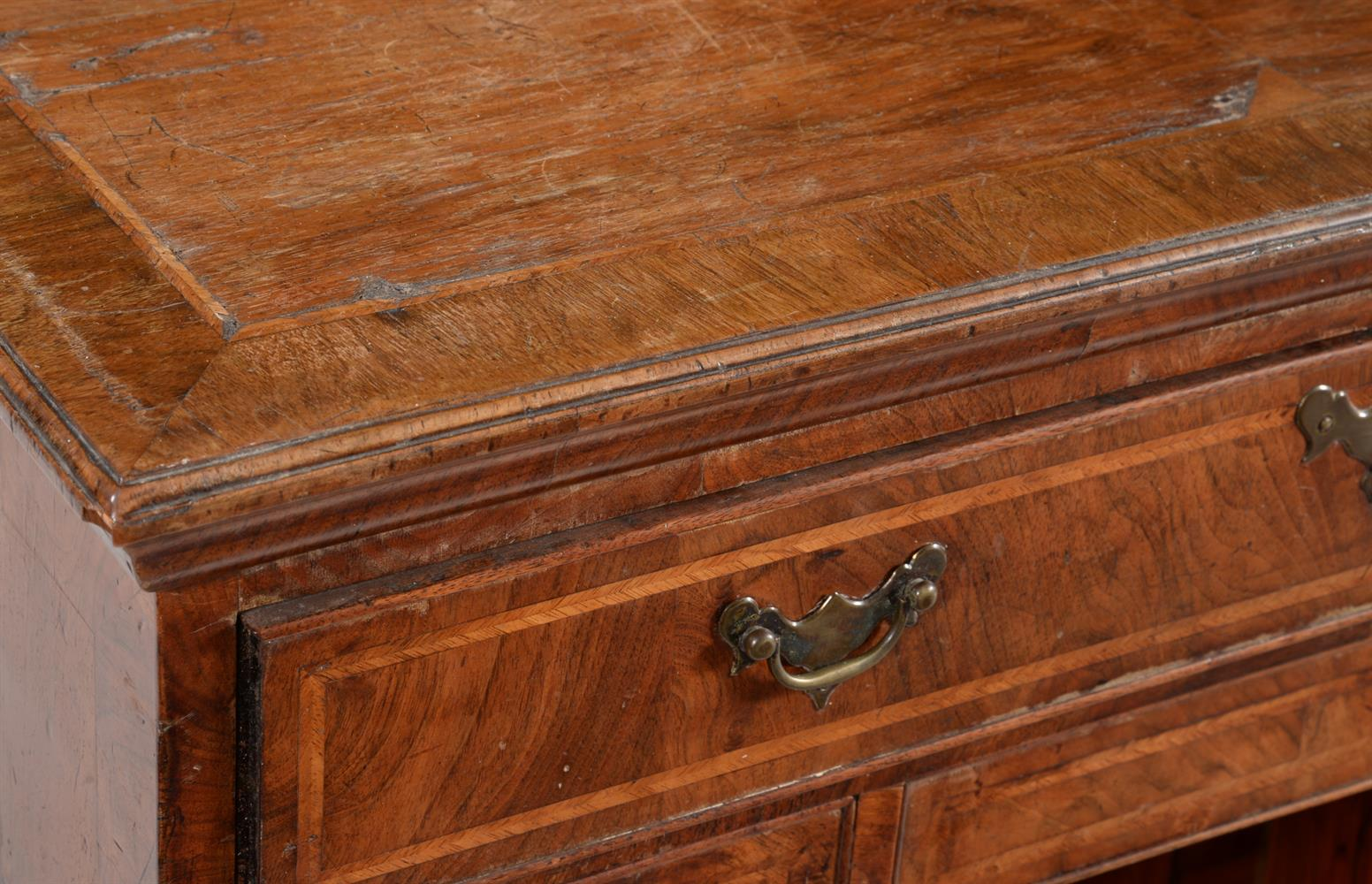 A George II walnut and feather banded kneehole desk - Image 2 of 2