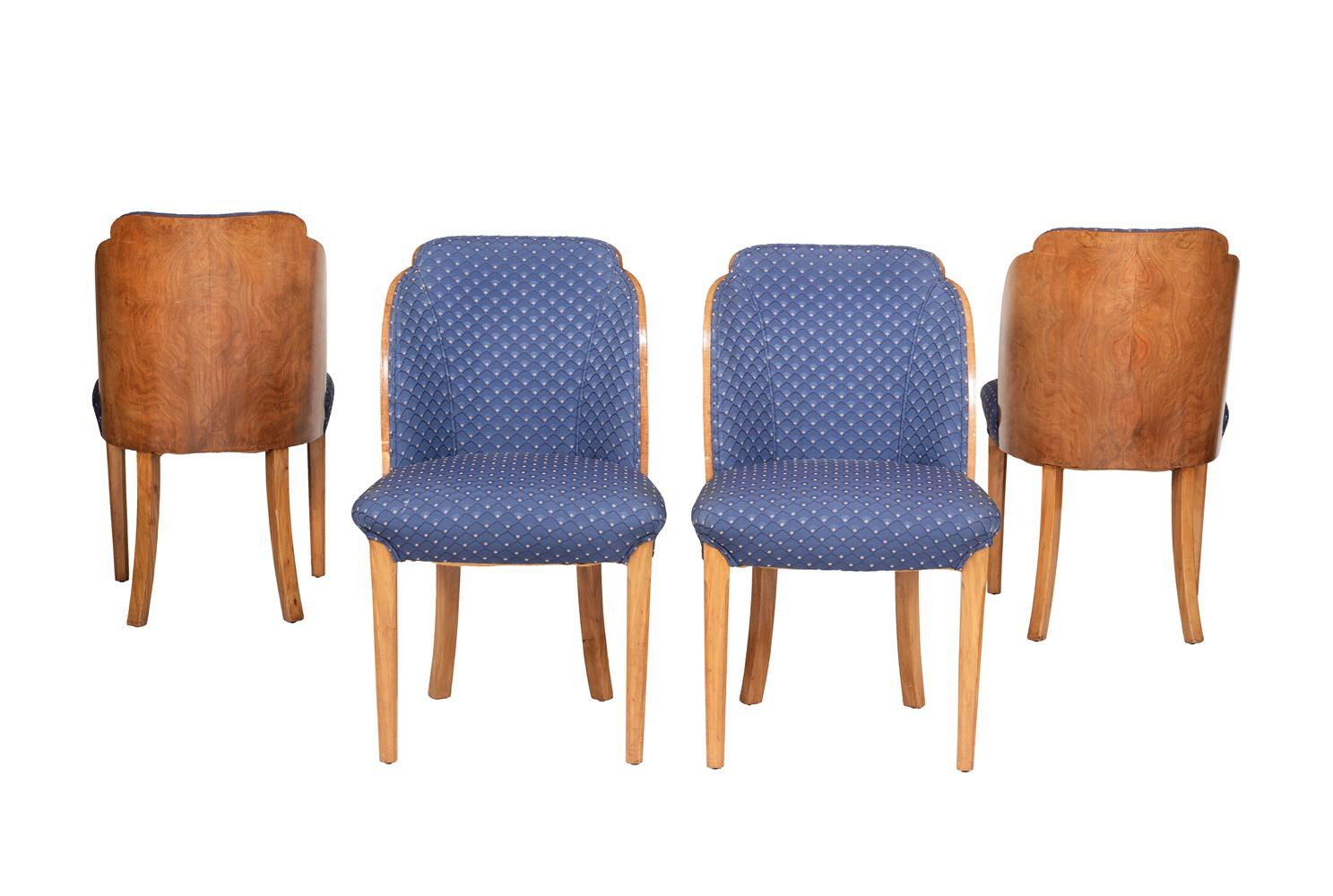Epstein: a Cloud series walnut suite of seat furniture