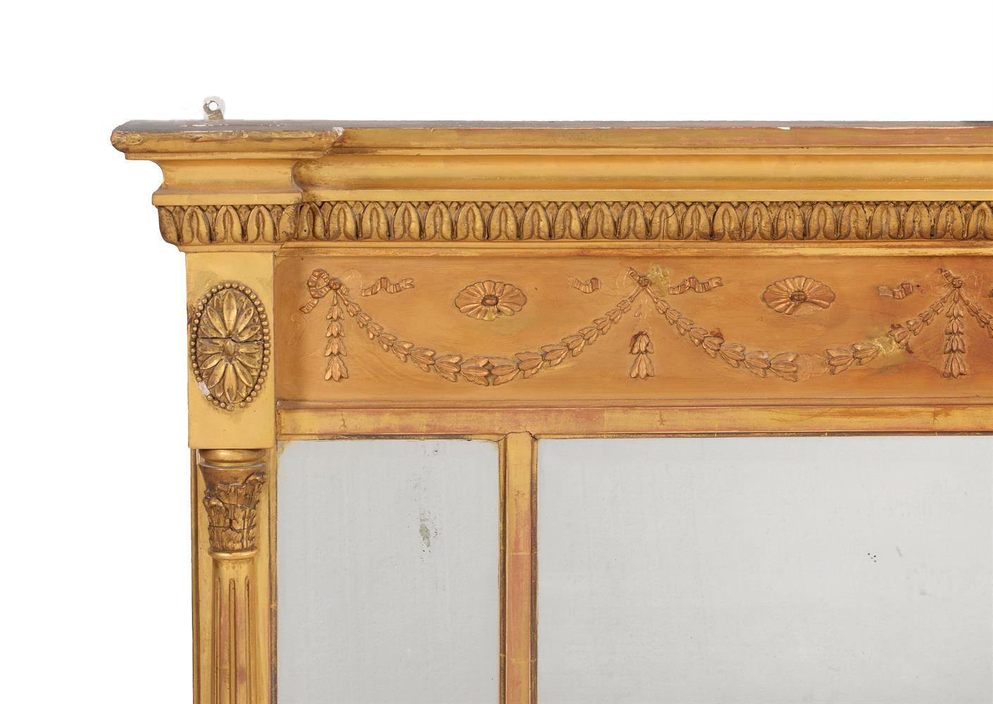 A Victorian giltwood overmantel wall mirror - Image 2 of 3
