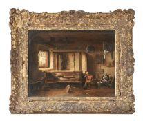 Continental School (18th century), Weavers at work