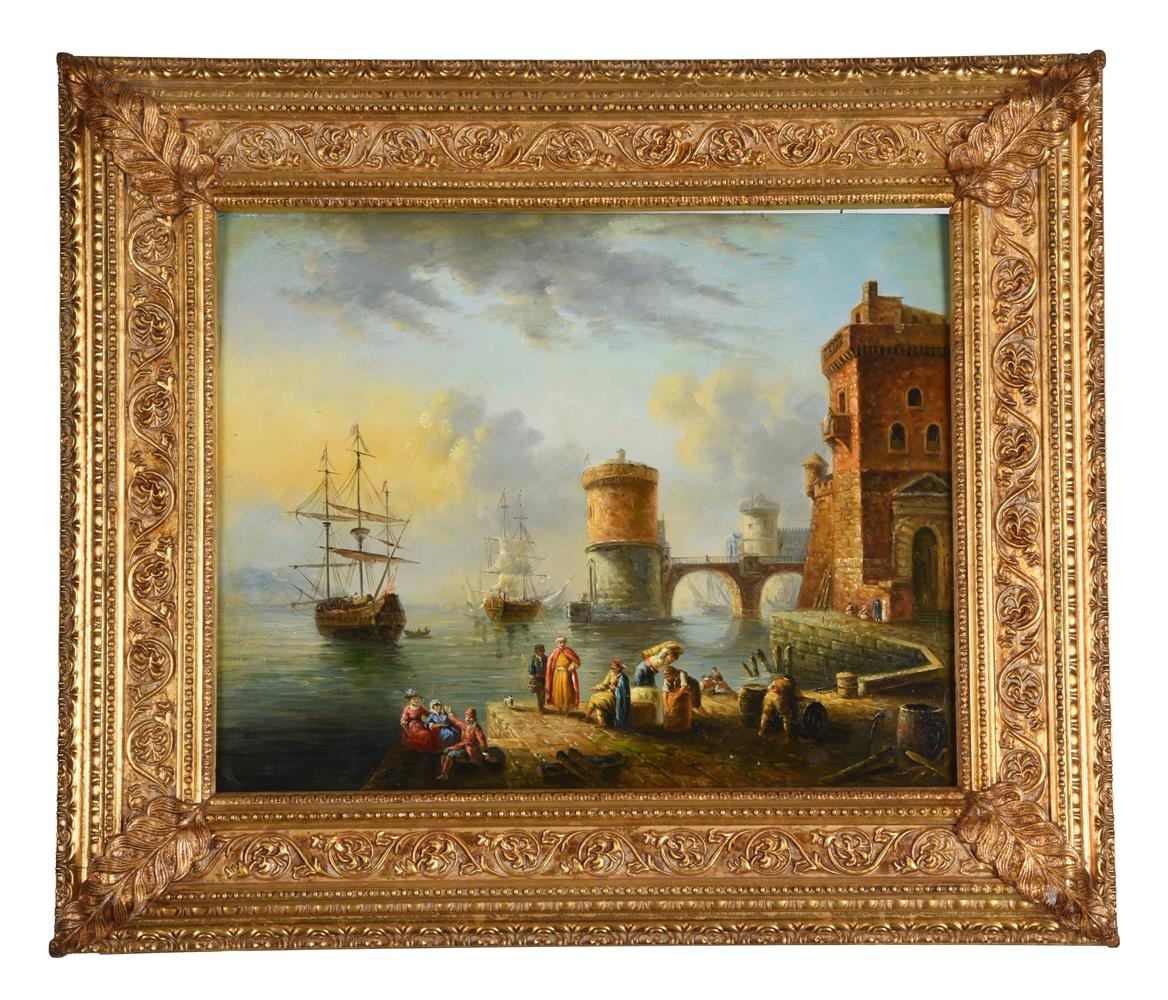 Manner of Anton Schranz Jnr, Harbour scene - Image 2 of 3