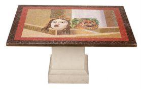 An Italian mosaic centre table top