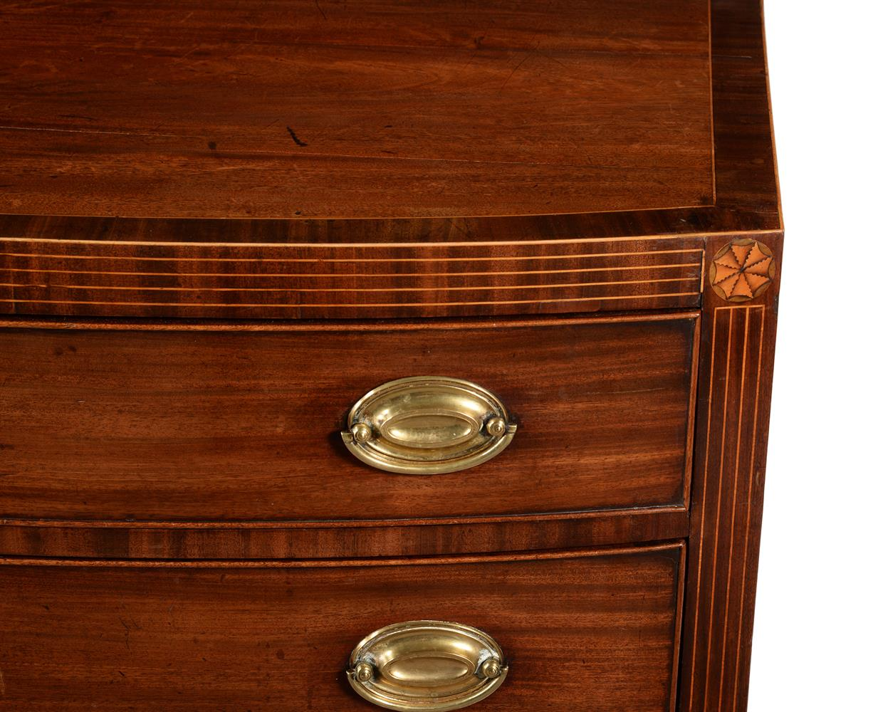 A George III mahogany bowfront chest of drawers - Image 2 of 2