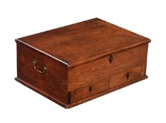 An Anglo-Chinese hardwood, probably Huanghuali, document box