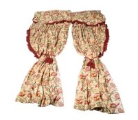 † Two pairs of Nina Campbell curtains in Braulen fabric