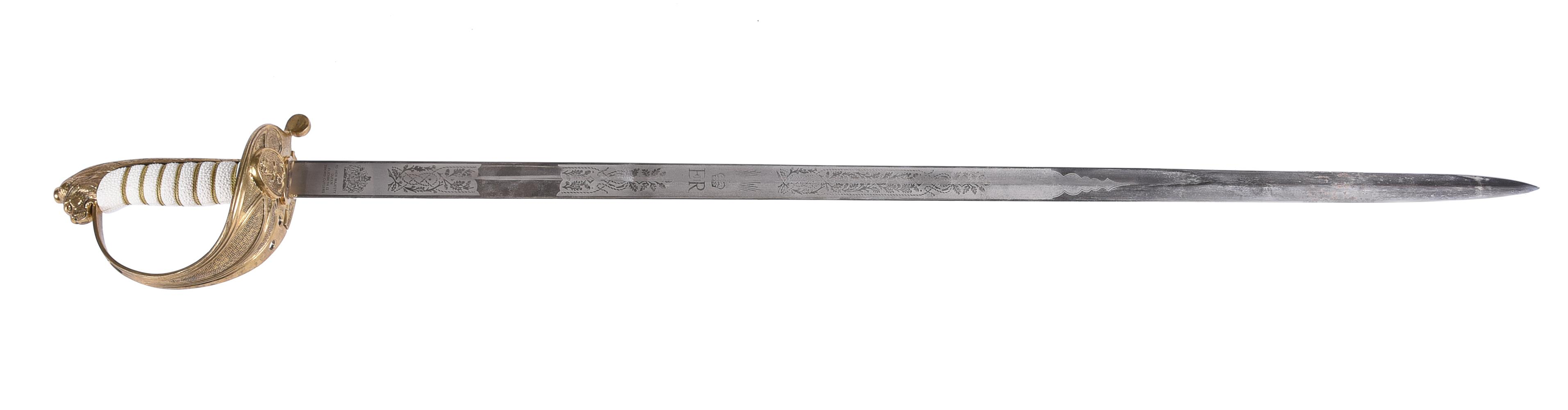 An Elizabeth II Royal Naval officer's sword and scabbard - Image 2 of 7