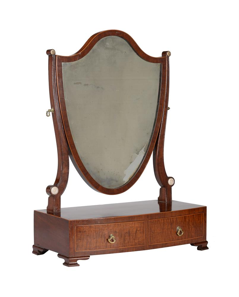 A group of three similar George III mahogany platform dressing mirrors - Image 3 of 4