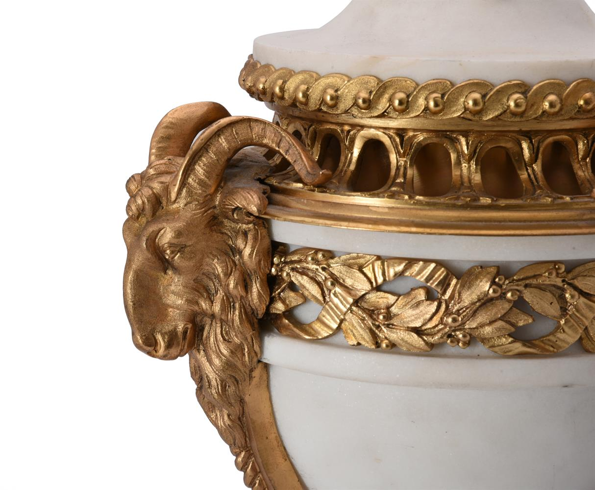 A French marble and gilt metal table lamp - Image 3 of 3