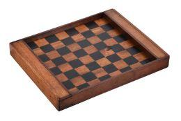 A mixed wood gaming board