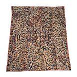 An American patchwork quilt of various silks