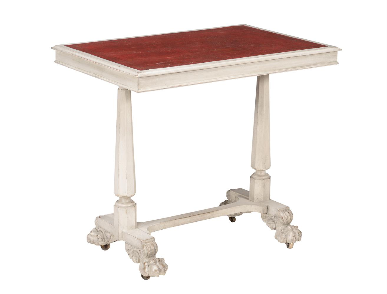 A painted writing or side table