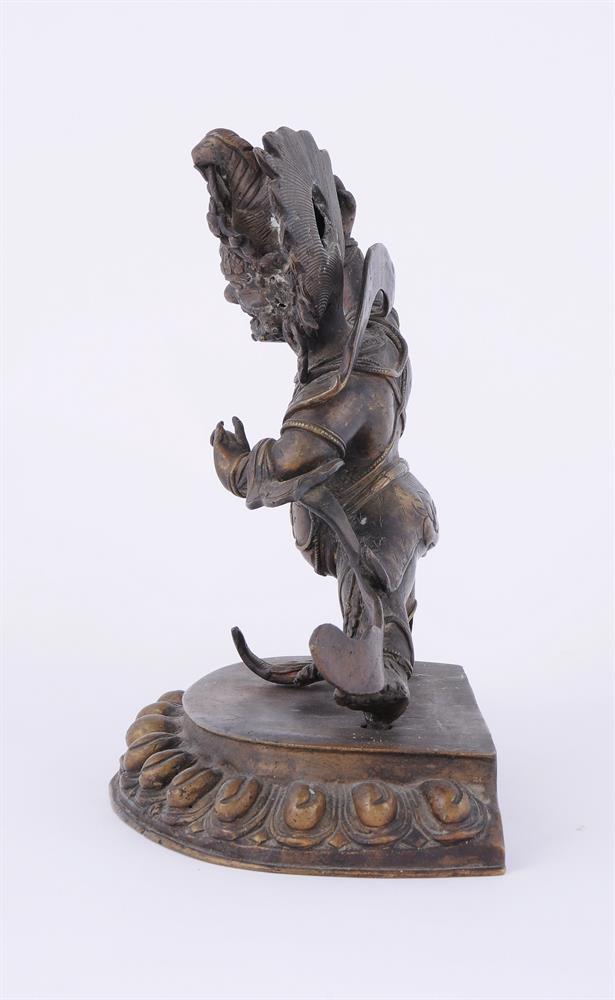 A Tibetan bronze figure of Vajrapani - Image 5 of 6