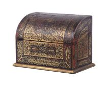 A Victorian 'boulle' stationary casket