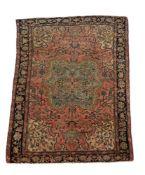 A Persian wool rug