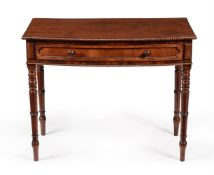 A George IV mahogany bowfront side table