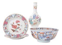 A Chinese famille rose bottle vase