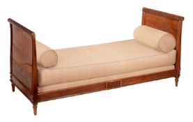 A mahogany day bed in Regency style