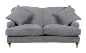 An upholstered sofa