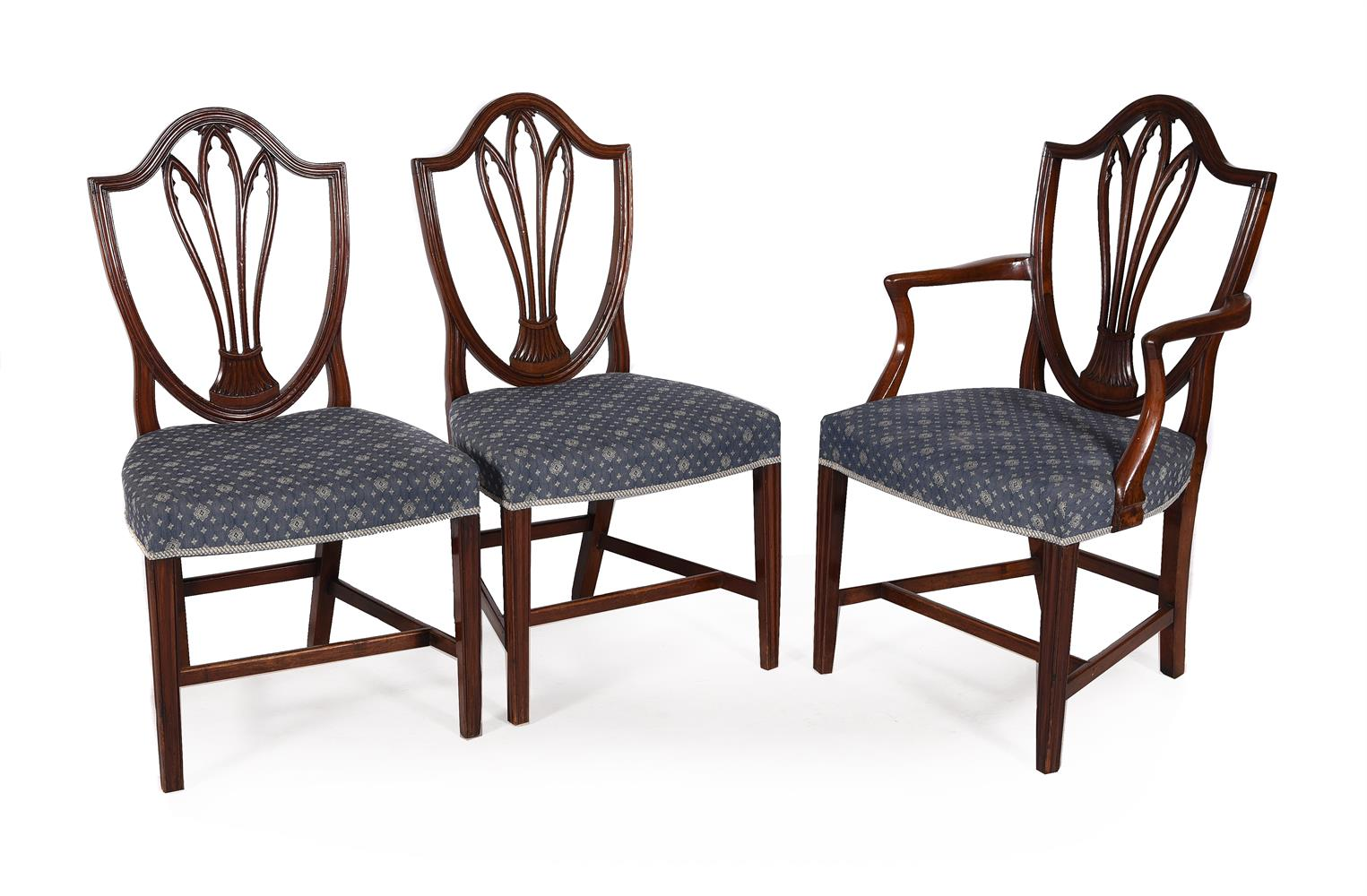 A set of eight George III dining chairs - Image 2 of 5