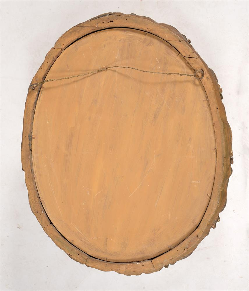 A Continental carved giltwood oval wall mirror - Image 3 of 3