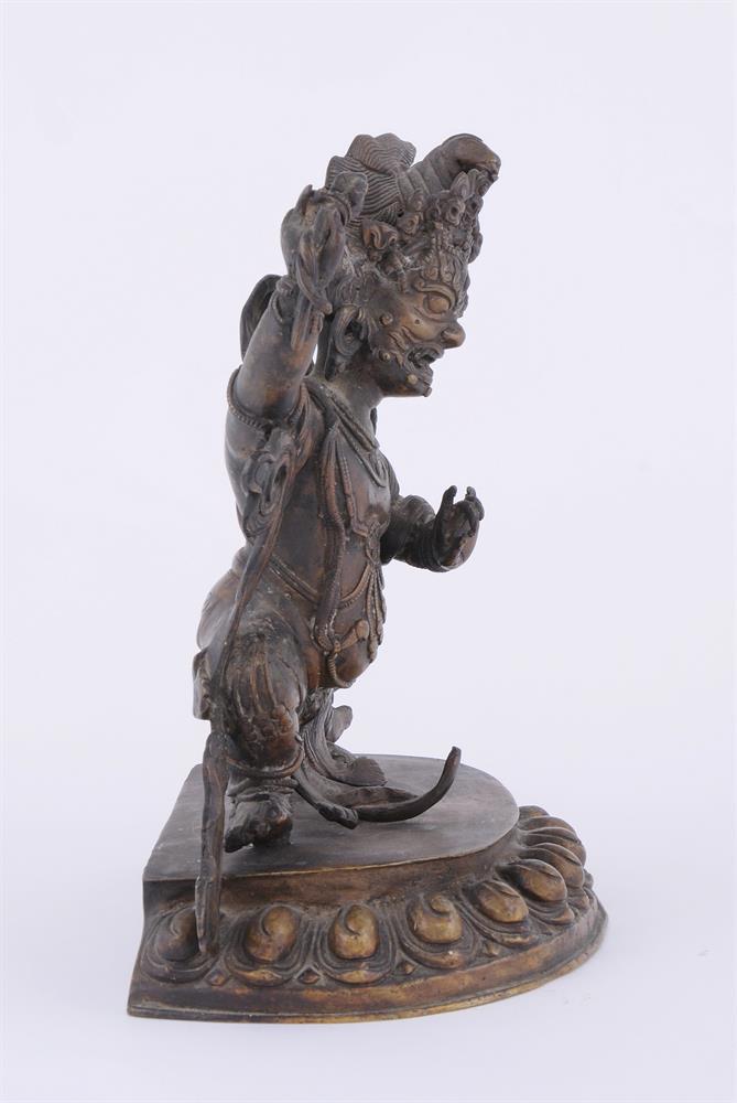 A Tibetan bronze figure of Vajrapani - Image 3 of 6