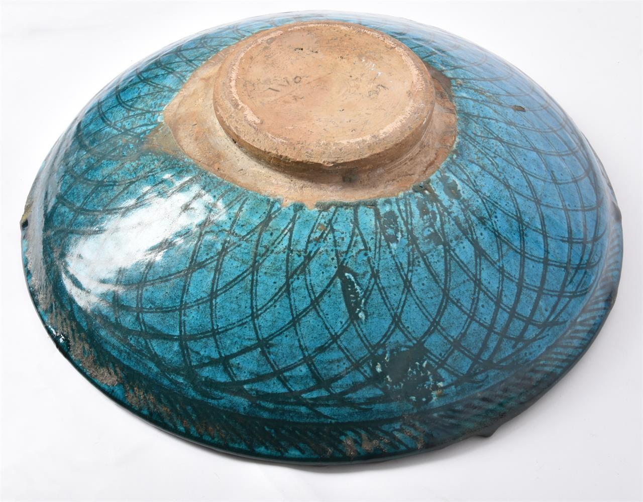 Two underglaze painted earthenware dishes - Image 7 of 9