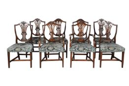 A set of eight dining chairs in George III style