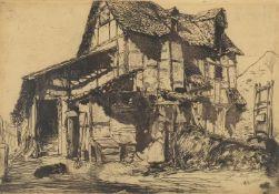 James Abbott McNeill Whistler (American 1834-1903), 'The Unsafe Tenement'