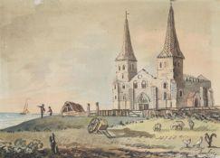 John Nixon (British 1760-1818), 'Reculver, Kent'