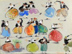 λ Josep Coll Bardolet (Spanish 1912-2007), 'Dancing figures'