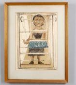 λ Massimo Campigli (Italian 1895-1971) 'Donna Al Telaio 1951'