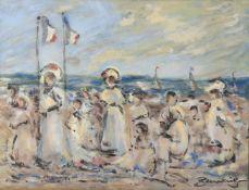 λ Walter John Beauvais (British 1942-1998) 'La plage à Deauville'