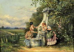 M. I. Reid (British 20th century), 'At The Spring'