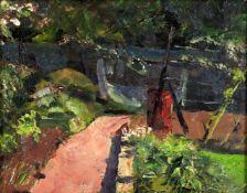 British School (20th century), 'Garden view'
