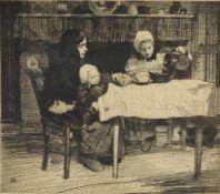 λ William Lee-Hankey (British 1869-1952), 'Dinner time'