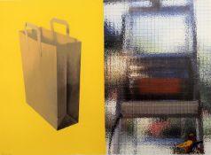 λ Tim Mara (Irish 1948-1997), 'Wire Glass and Carrier Bag, 1996'