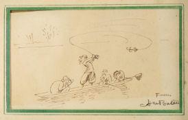 λ Henry Mayo Bateman (1887-1970), 'Thanks Awfully'- The angler