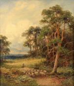 John Bates Noel (British c. 1870-1927) 'On Surrey Downs'
