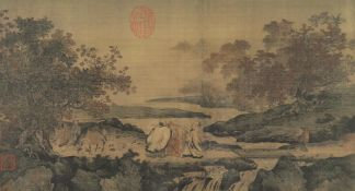 A collection of 4 Asian decorative prints