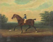 19th century English school after Sartorius- 'Racehorse with jockey up'