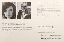 λ 'Fine Lines': a boxed folio of fourteen poems by Guri Peto and Dick Bixby