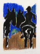 λ Josef Herman (British 1911-2000), 'Horse Riders'