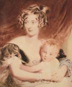After Sir Thomas Lawrence, 'Lady Georgiana Agar-Ellis and her son Henry Agar-Ellis'