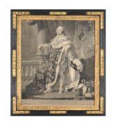 An engraving by Bervi after a portrait of Callet 'Louis XVI'